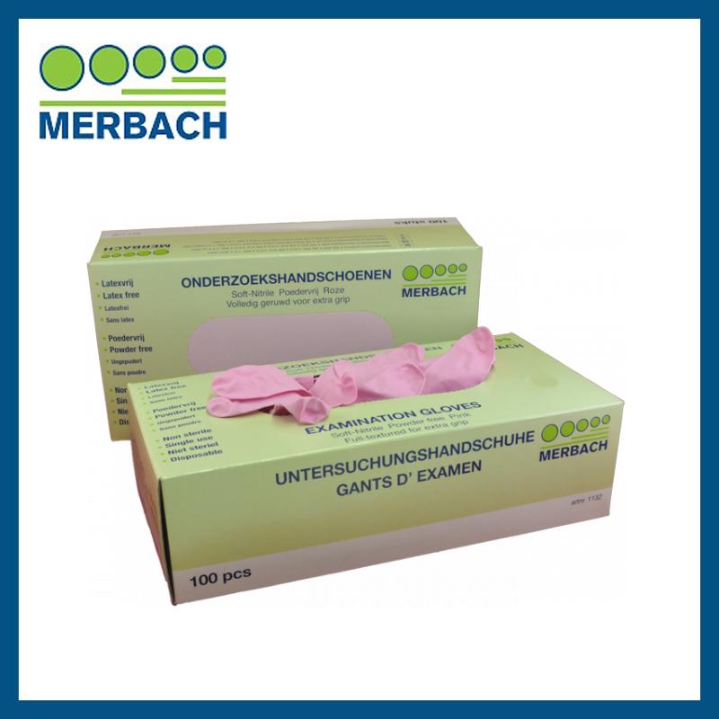 Merbach Nitrile Handschoenen Roze XS