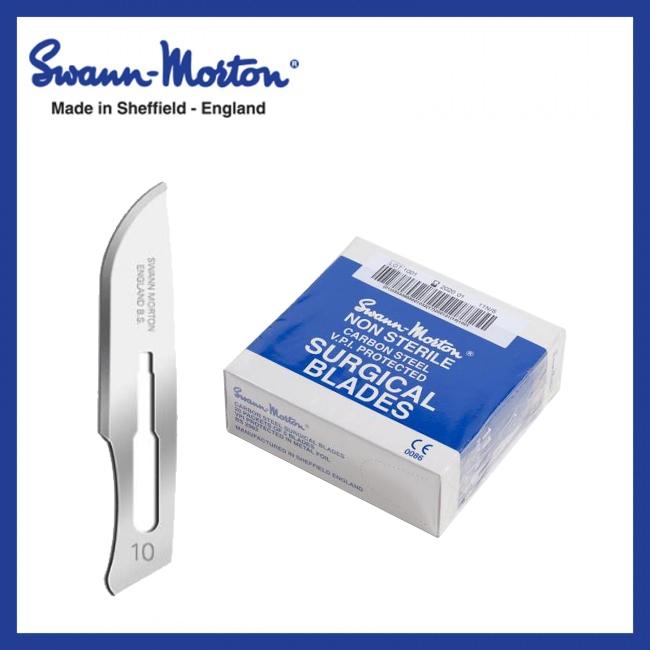 Mesjes niet steriel - Swann Morton - Blauw 10