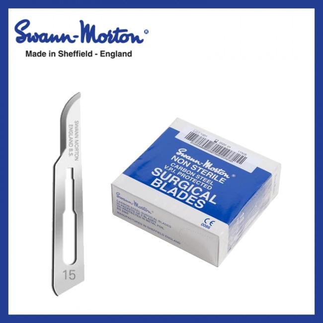 Mesjes niet steriel - Swann Morton - Blauw 15