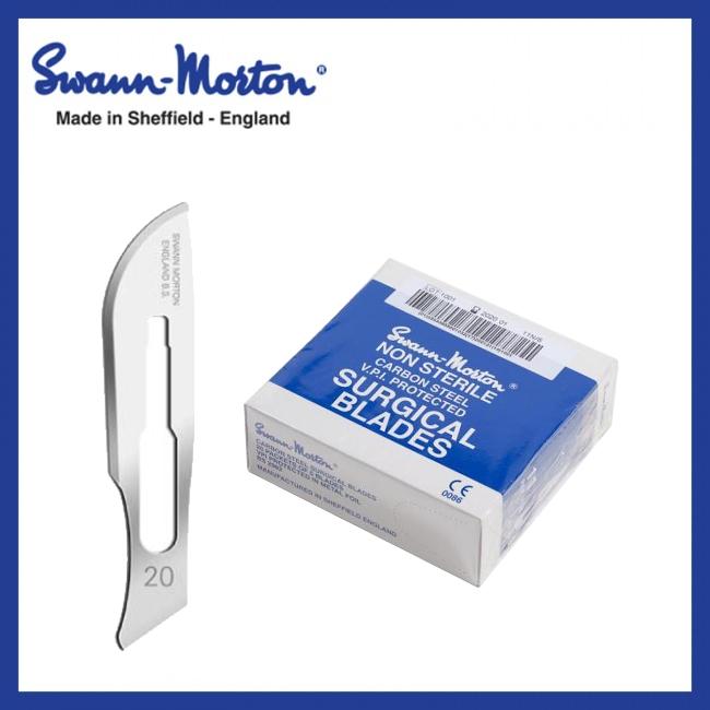 Mesjes niet steriel - Swann Morton - Blauw 20