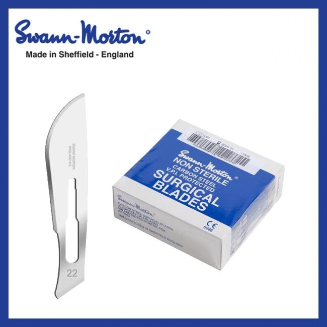 Mesjes niet steriel - Swann Morton - Blauw 22