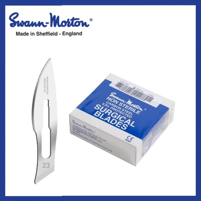 Mesjes niet steriel - Swann Morton - Blauw 23