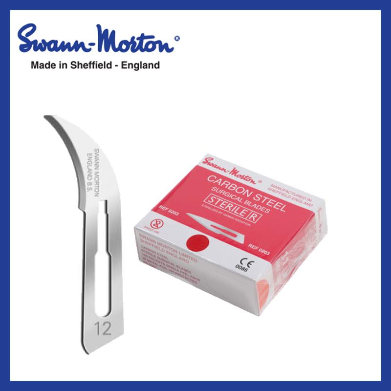 Mesjes steriel - Swann Morton - Rood 12