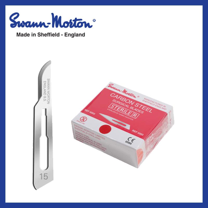 Mesjes steriel - Swann Morton - rood 15