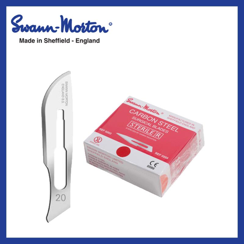 Mesjes steriel - Swann Morton - Rood 20