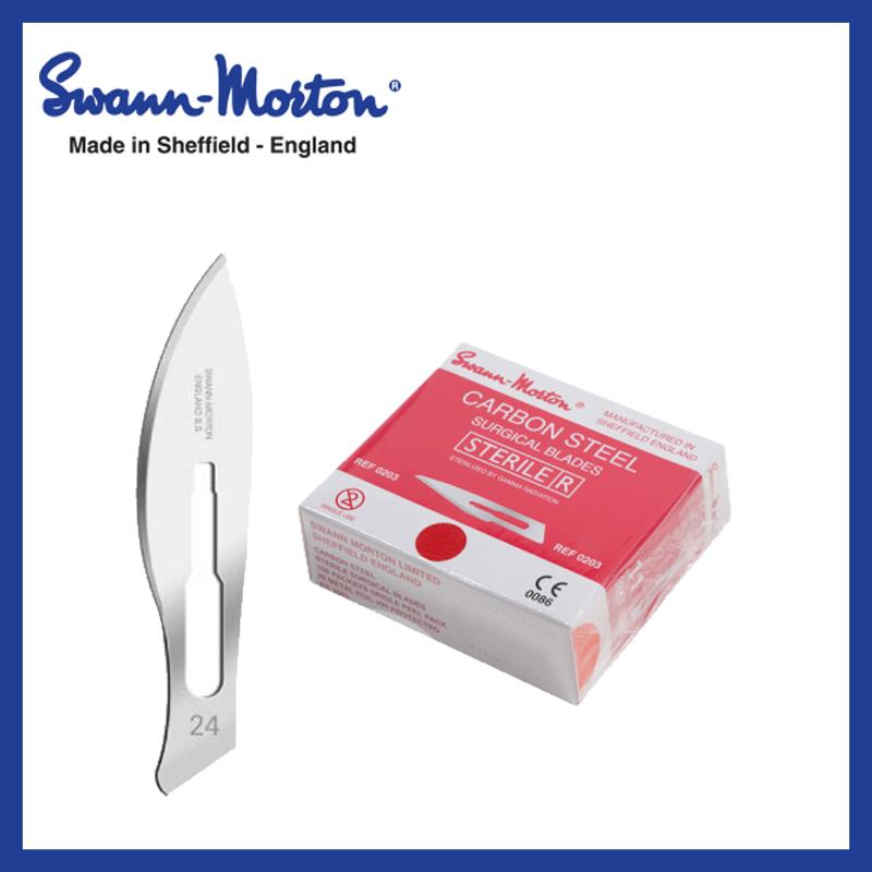 Mesjes steriel - Swann Morton - Rood 24